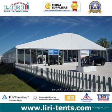 Arcum Golf Event Zelt mit PVC Wänden und Glaswänden