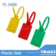 Selo de plástico ajustável para contêineres e caminhões