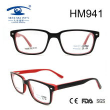 New Arrival China Black Frame Acetate Eyeglasses (HM941)