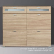 Modena Royal Walnut Wooden Shoe Cabinet (HF-EY0814)