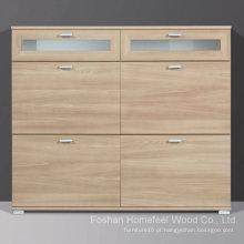 Gabinete de sapato de madeira Modena Royal Walnut (HF-EY0814)