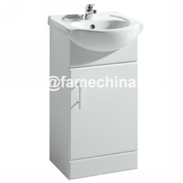 Small Size High Gloss Wall Mounted MDF Bathroom Cabinet