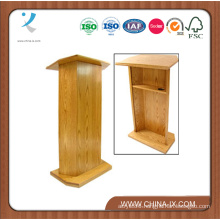 Floor Standing Podium with Open Back and Adjustable Shelf