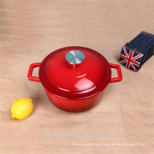 red enamel casserole mussel pot