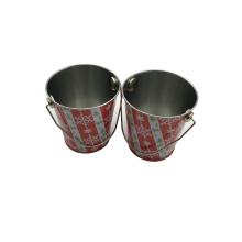 Handle Tin Bucket Wholesale Christmas Gift