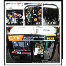 Generador diesel de potencia con generador diesel portátil (2KW)