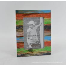 Marco de chapa de madera de MDF angustiado para Home Deco