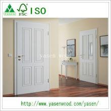 Porte en bois d'intérieur de conception moderne blanche finie