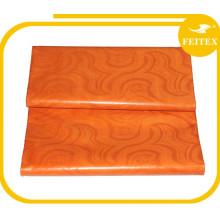 Suministro de materia textil hecha a mano ghalila damasco brocado algodón bazin tela última moda diseño superior largo
