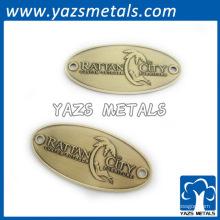 Personalizada en relieve muebles de metal placa de marca