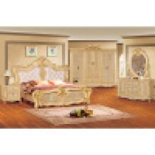 Ensemble de meubles de chambre à coucher avec lit double (W802B)