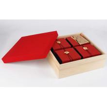 Caixa de presente de papel de alta qualidade, caixa de presente para a embalagem do chá