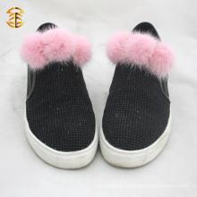 Latest Fashion Fur Pom Pom Acessório Atacado Para Sapatos Chapéu Sapatos Decoração para casa