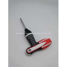 Chave de fenda flexível para parafuso de cabeça dupla com três funções de uso