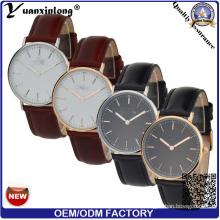 Yxl-570 Most Popular Elegant Design High Quality Colorful Genunie Leather Strap Men Watch
