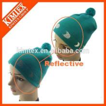 Bonnet réfléchissant en acrylique tricoté