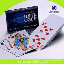 Cartões de jogo grossistas de papel engraçado do design novo barato