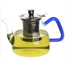 Clear Glass Green Teapot Personalised Teapot