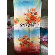 2015 deux ou un côté brossé microfibre imprimé polyester drap de lit usine
