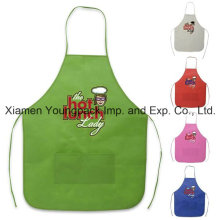 Cheap Promotional Custom Printed Non-Woven Cooking Apron with Pockets