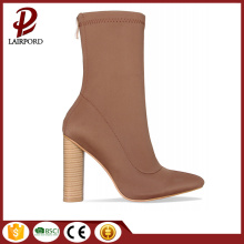 high heel camle women ankle short boots