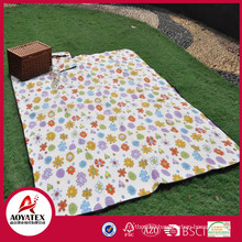 High quality polar fleece waterproof picnic blanket, Pattern printed fleece picnic rugs, Waterproof picnic blanket