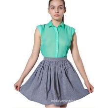 Mini Cotton Womens Summer Skirts / Skirt , Lovely Pink Grey Short