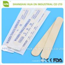 Despressor de tougueira de madeira descartable esterilizado