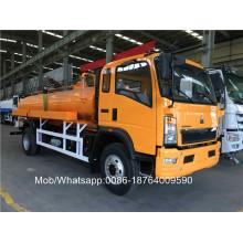 Caminhão do vácuo da água de esgoto de 8CBM LHD 4X2