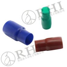 Tapa de terminal de vinilo a prueba de polvo RHI para terminal de pala, teleflex con aislamiento de cable. Tapas de pvc suave para terminal de anillo