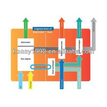 Générateur de récupération de chaleur à déchets CHP