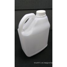 Botella plástica blanca cuadrada de 2.5L