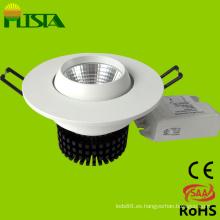 COB 7W regulable LED ahuecado abajo de luz con el CE, RoHS aprobadas