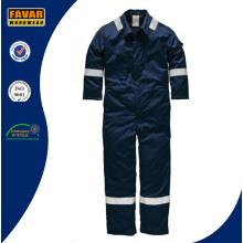 Mens Cotton High Sichtbarkeit Navy Blue Isoliert Coverall