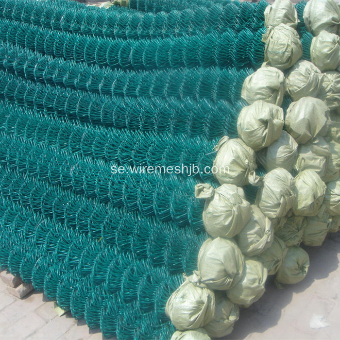 Dark Green PVC Coated Chain Link Fence