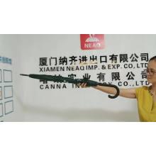China wholesale cheap amazon top seller  crook J handle deco  custom logo  printed umbrella for travel