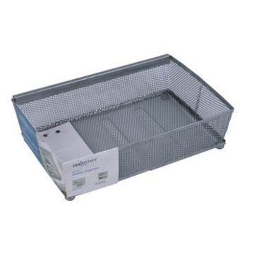 Silver Mesh Wire File Tray