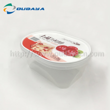 iml transparent container plastic bowl with lid