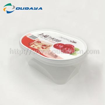 bol en plastique avec couvercle transparent iml avec couvercle