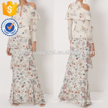 New Fashion Ivory Silk Floral Annabelle Gown Dress Manufacture Wholesale Fashion Women Apparel (TA5278D)