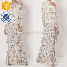 Новая мода шелка цвета слоновой кости Цветочный Аннабель платья Производство Оптовая Женская мода одежды (TA5278D)