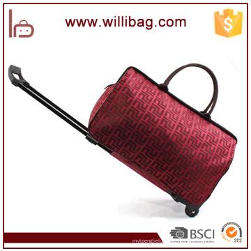 Wasserdichte Polyester Reisetasche mit Trolley Leichte Duffle Bag