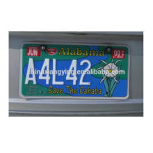 Custom Metal Made of Aluminum Car Plates
