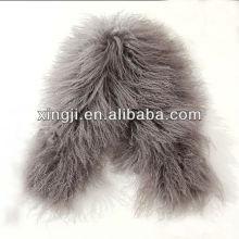 pele de cordeiro cor tingida para jaqueta com forro de pele de cordeiro de forro