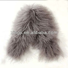 окрашенный цвет шерсти овечки куртка с подкладкой ягненка меховой воротник