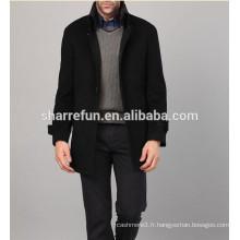 Pardessus en cachemire de laine pour hommes 2014-2015 mode simple-breasted