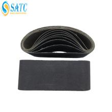 Venda al por mayor la correa que enarena del carburo de silicio para la lijadora de correa para el metal