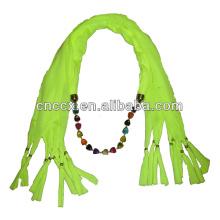 PK17ST300 2 row multi pearls pendant scarf