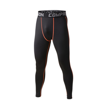 Mens running longues pantalons collants en lycra spandex formation