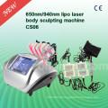 CS06 6 Handle Weigth perda 650nm máquina de laser de diodo